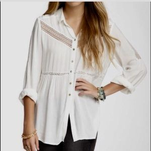 🌸🌟FREE PEOPLE White lace Wild Wing
